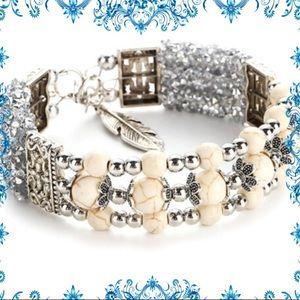 Jewelry - 2/$24🎉New🎉TurquoiseTibetan Silver Bangle